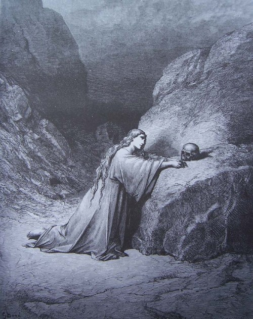 gravure dore bible - marie madeleine repentante