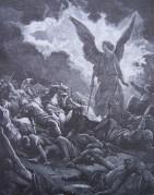 gravure dore bible - un ange detruit l armee de sennacherib