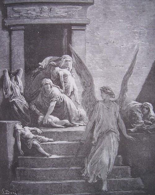 gravure dore bible - mort des premiers-nes en egypte