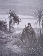 gravure dore bible - abraham et issac portant le bois du sacrifice _small