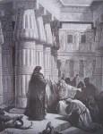gravure dore bible – pharaon conjure moise de quitter legypte